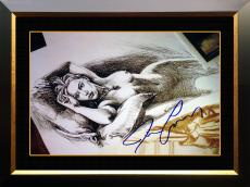 """Framed Titanic - Jack's """"Drawing"""" - Facsimile Autographed by James Cameron"""