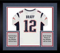 Framed Tom Brady New England Patriots Autographed ProLine White Jersey
