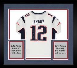 Framed Tom Brady New England Patriots Autographed ProLine White Jersey