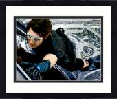 "Framed Tom Cruise Autographed 11"" x 14"" Mission Impossible Hanging From Building Photograph - PSA/DNA COA"