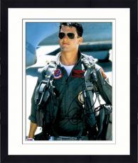 "Framed Tom Cruise Autographed 11"" x 14"" Top Gun Wearing Flight Suit Photograph - PSA/DNA COA"