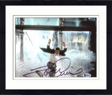 """Framed Tom Cruise Autographed 8"""" x 10"""" Mission Impossible Jumping Through Window Photograph - Beckett COA"""