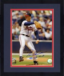 "Framed Tom Glavine Atlanta Braves Autographed 8"" x 10"" Photograph with ""95 WS MVP"" Inscription"