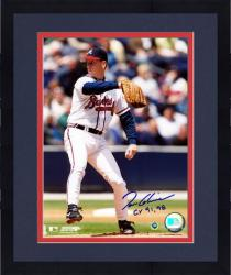 Framed Tom Glavine Atlanta Braves Autographed 8'' x 10'' Photograph with CY 91,98 Inscription