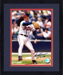 "Framed Tom Glavine Atlanta Braves Autographed 8"" x 10"" Photograph with CY 91,98 Inscription"