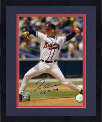 "Framed Tom Glavine Atlanta Braves Autographed 8"" x 10"" Pitching Photograph with ""CY 91, 98"" Inscription"