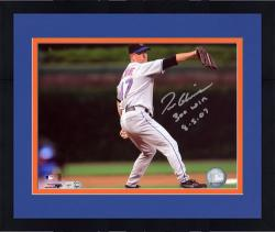 Framed Tom Glavine New York Mets 300th Win Autographed 8'' x 10'' Photograph with ''300 Win 8-5-07'' Inscription
