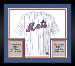 Framed Tom Glavine New York Mets Autographed White Jersey with 3 Inscriptions