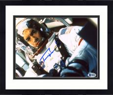 "Framed Tom Hanks Autographed 8"" x 10"" Apollo 13 Wearing Astronaut Suit With Helmet Front View Photograph - Beckett COA"