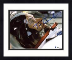 "Framed Tom Hanks Autographed 8"" x 10"" Apollo 13 Wearing Astronaut Suit With Helmet Side View Photograph - Beckett COA"