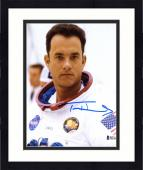 "Framed Tom Hanks Autographed 8"" x 10"" Apollo 13 Wearing Nasa Suit Front view Photograph - Beckett COA"
