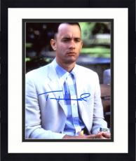 "Framed Tom Hanks Autographed 8"" x 10"" Forrest Gump Close Up Sitting on Bench Photograph - Beckett COA"