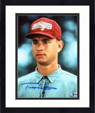 "Framed Tom Hanks Autographed 8"" x 10"" Forrest Gump Close Up Wearing Red Hat Photograph - Beckett COA"