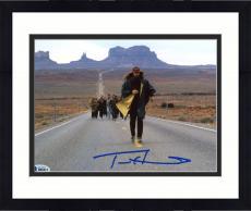 "Framed Tom Hanks Autographed 8"" x 10"" Forrest Gump Middle of Road Running Marathon Photograph - Beckett COA"