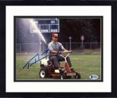 "Framed Tom Hanks Autographed 8"" x 10"" Forrest Gump On Lawn Mower Cutting the Grass Photograph - Beckett COA"