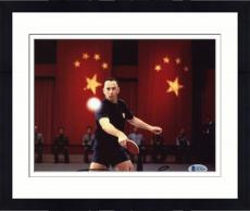 "Framed Tom Hanks Autographed 8"" x 10"" Forrest Gump Ping Pong Photograph - Beckett COA"