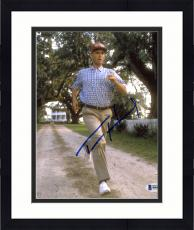 "Framed Tom Hanks Autographed 8"" x 10"" Forrest Gump Running Away from House Wearing Hat Photograph - Beckett COA"