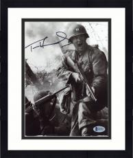 "Framed Tom Hanks Autographed 8"" x 10"" Saving Private Ryan Shooting Photograph - Beckett COA"