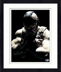 """Framed Tom Hardy Autographed 11"""" x 14"""" The Dark Night Rises Bane Arms Crossed Looking Down Photograph - Beckett COA"""