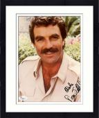 "Framed Tom Selleck Autographed 8"" x 10"" Face Close Up Photograph With Aloha Inscription - JSA"