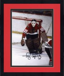 Framed Tony Esposito Chicago Blackhawks Autographed Right Goal 8'' x 10'' Photo