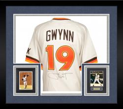 "Framed Tony Gwynn San Diego Padres Autographed Mitchell & Ness Jersey with ""3141"" Inscription (PSA/DNA)"