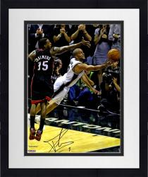 "Framed Tony Parker San Antonio Spurs 2014 NBA Finals Autographed 16"" x 20"" Diving For Ball Photograph"