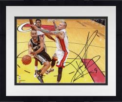 "Framed Tony Parker San Antonio Spurs 2014 NBA Finals Autographed 8"" x 10"" Horizontal Lay-Up Photograph"