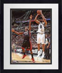 "Framed Tony Parker San Antonio Spurs 2014 NBA Finals Autographed 8"" x 10"" Jump Shot Photograph"