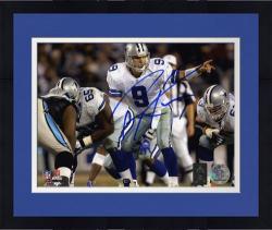"Framed Tony Romo Dallas Cowboys Autographed 8"" x 10"" Under Center Photograph"