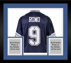 Framed Tony Romo Dallas Cowboys Autographed Authentic Reebok Jersey
