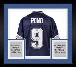 Framed Tony Romo Dallas Cowboys Autographed Authentic Reebok Jersey