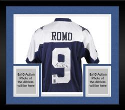 Framed Tony Romo Dallas Cowboys Autographed Thanksgiving Day Reebok Authentic Jersey