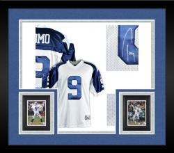 Framed Tony Romo Dallas Cowboys Autographed White Reebok EQT Throwback Jersey
