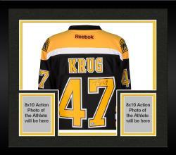 Framed Torey Krug Boston Bruins Autographed Black Reebok Premier Jersey
