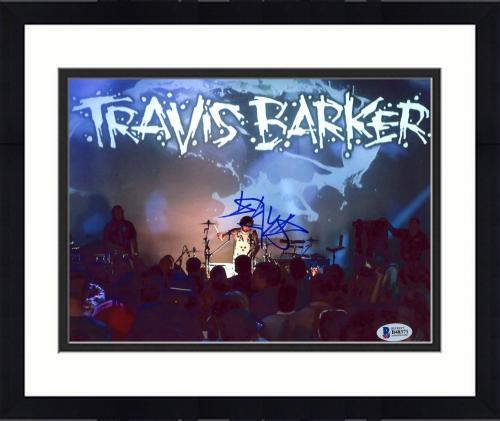 "Framed Travis Barker Autographed 8"" x 10"" Travis Barker Stage Photograph - BAS COA"