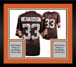 Framed Trent Richardson Cleveland Browns Autographed Nike Brown Jersey
