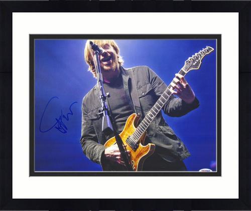 "Framed Trey Anastasio Autographed 11"" x 14"" Phish Playing Guitar Photograph - PSA/DNA COA"