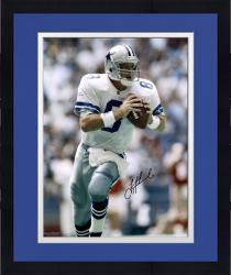 Framed Troy Aikman Dallas Cowboys Autographed 16'' x 20'' Scramble Photograph