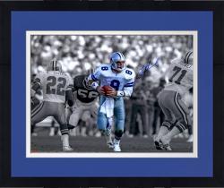 "Framed Troy Aikman Dallas Cowboys Autographed 16"" x 20"" Spotlight Scramble Photograph"