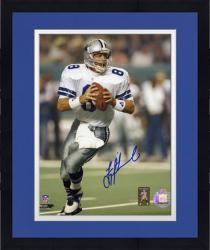 Framed Troy Aikman Dallas Cowboys Autographed 8'' x 10'' Both Hands on Ball Photograph