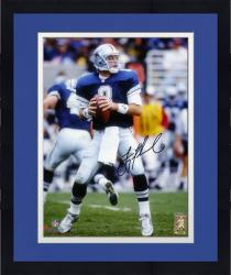 Framed Troy Aikman Dallas Cowboys Autographed 8'' x 10'' Looking to Pass Photograph