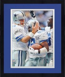 Framed Troy Aikman, Michael Irvin, & Emmitt Smith Dallas Cowboys Autographed 16'' x 20'' Vertical Photograph
