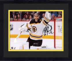 "Framed Tuukka Rask Boston Bruins Autographed 8"" x 10"" Glove Save Photograph"