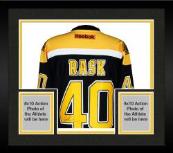 Framed Tuukka Rask Boston Bruins Autographed Reebok Premier Jersey