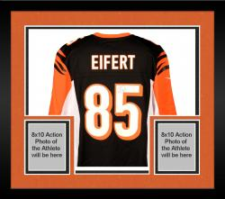 Framed Tyler Eifert Cincinnati Bengals Autographed Nike Replica Black Jersey