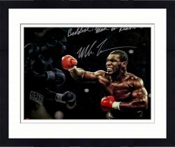 "Framed TYSON, MIKE AUTO ""BADDEST"" (STANDING) SPOTLIGHT 16X20 PHOTO - Mounted Memories"