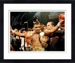 Framed TYSON, MIKE AUTO (BELTS) 16X20 PHOTO - Mounted Memories