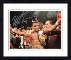 Framed TYSON, MIKE AUTO (BELTS) 8x10 PHOTO - Mounted Memories