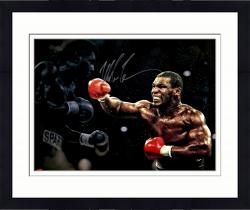 Framed TYSON, MIKE AUTO (STANDING OVER) SPOTLIGHT 16X20 PHOTO - Mounted Memories